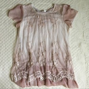 Simply Couture blush lace top